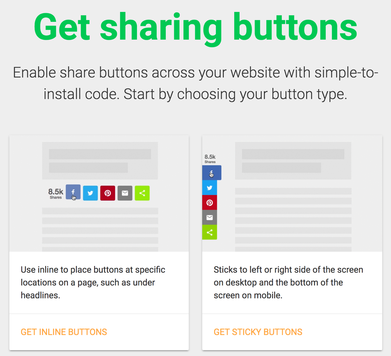 How to install share buttons on a html website sharethis for Sharethis com https