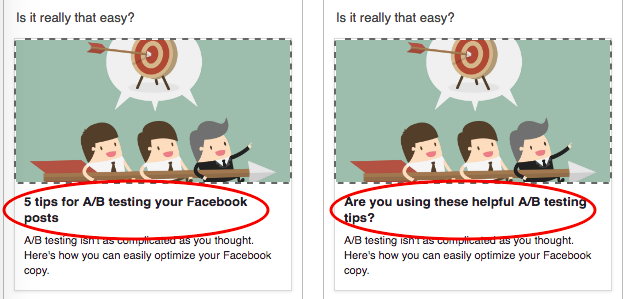 a/b testing for Facebook ads