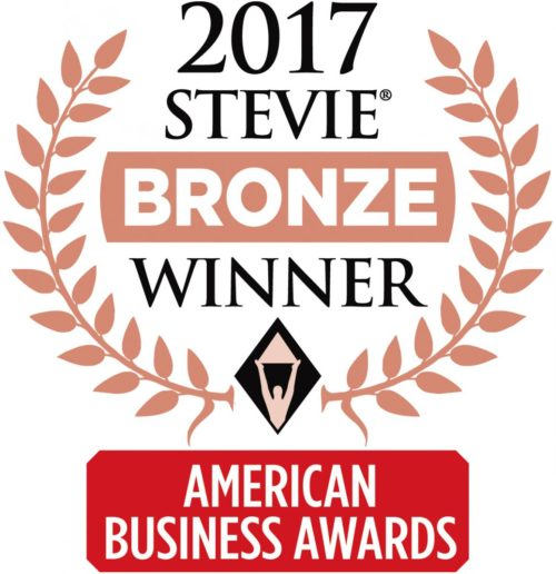2017 Stevie Award Bronze Winner