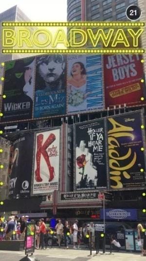 Broadway Geofilter