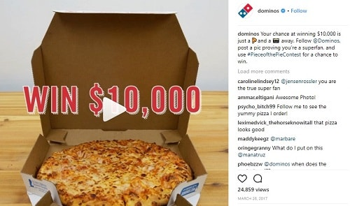Dominio's $10k Instagram Giveaway
