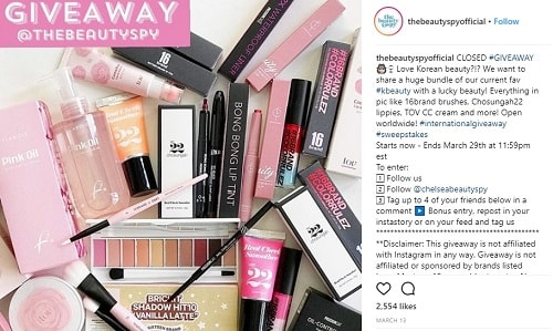 The Beauty Spy Instagram Giveaway