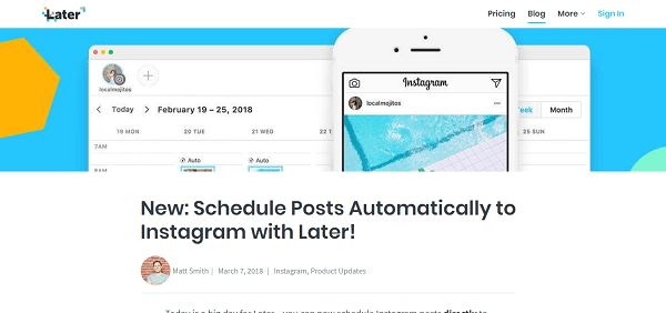 Later - Instagram scheduler