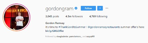 Gordon Ramsay Instagram
