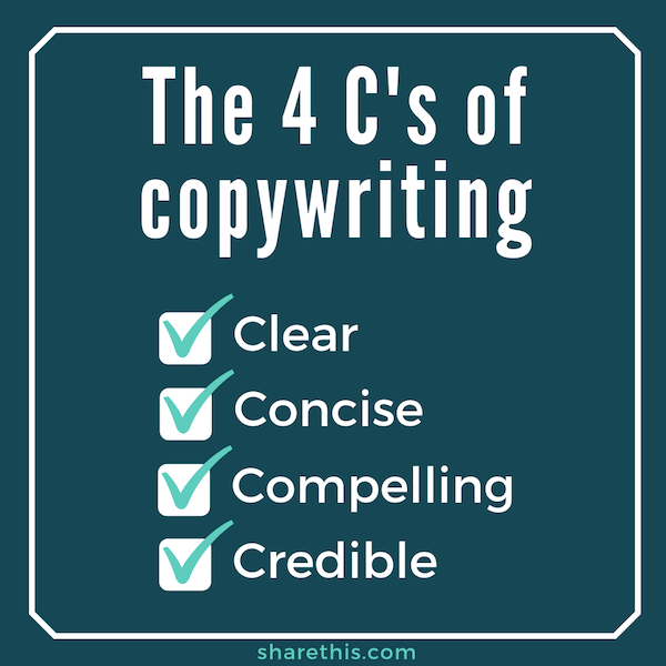 4 C's of Copywriting