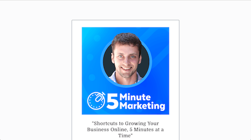 5 Minute Marketing