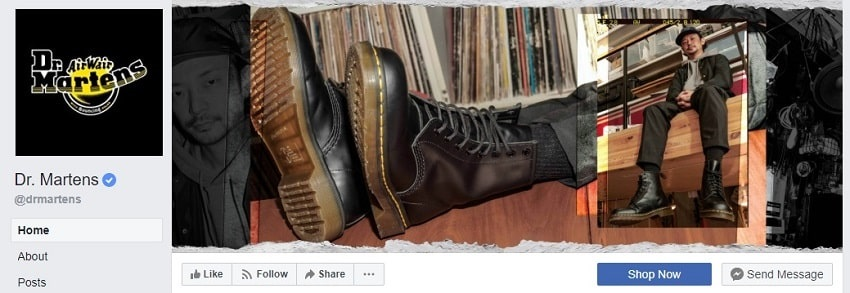 Dr. Martens Facebook Cover Photo