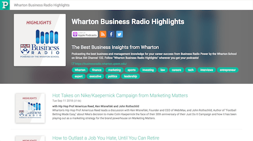 Wharton Business Radio Highlights