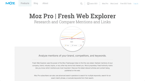 Moz Fresh Web Explorer