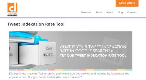 Tweet Indexation Rate Tool