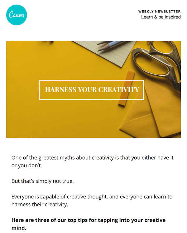 great newsletter examples-Canva