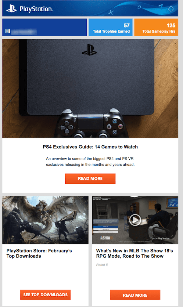 great newsletter examples-PlayStation