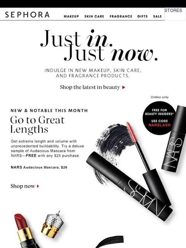 great newsletter examples-Sephora