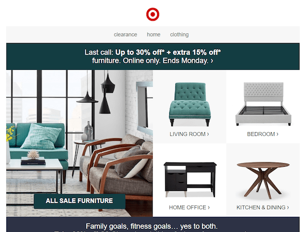 great newsletter examples-Target