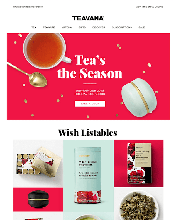great newsletter examples-Teavana