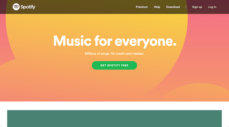 Spotify call-to-action