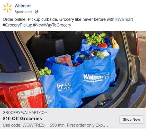 Walmart Facebook ad