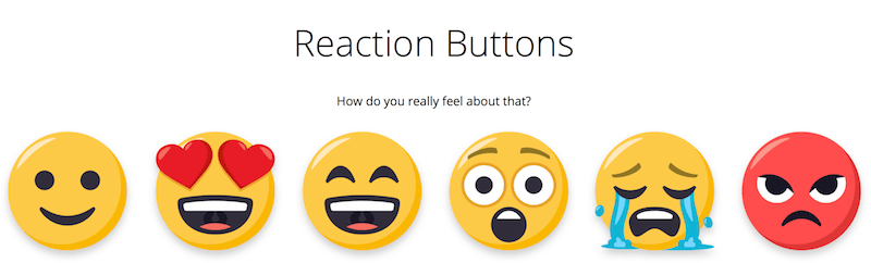 social media optimization with reaction buttons