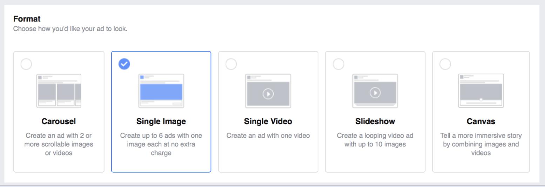 Facebook Ad Formats