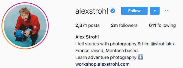 Instagram bio examples alexstrohl