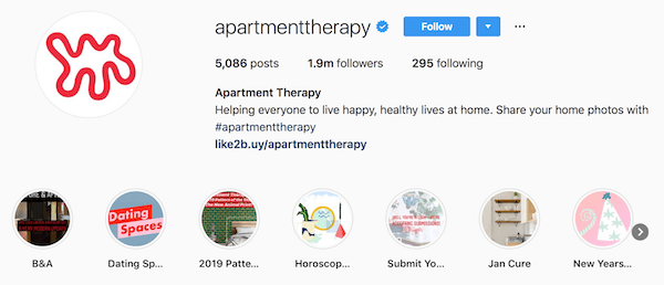Instagram bio examples apartmenttherapy