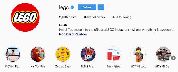 Instagram bio examples lego