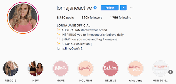 Instagram bio examples lornajaneactive
