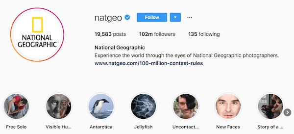 Instagram bio examples natgeo
