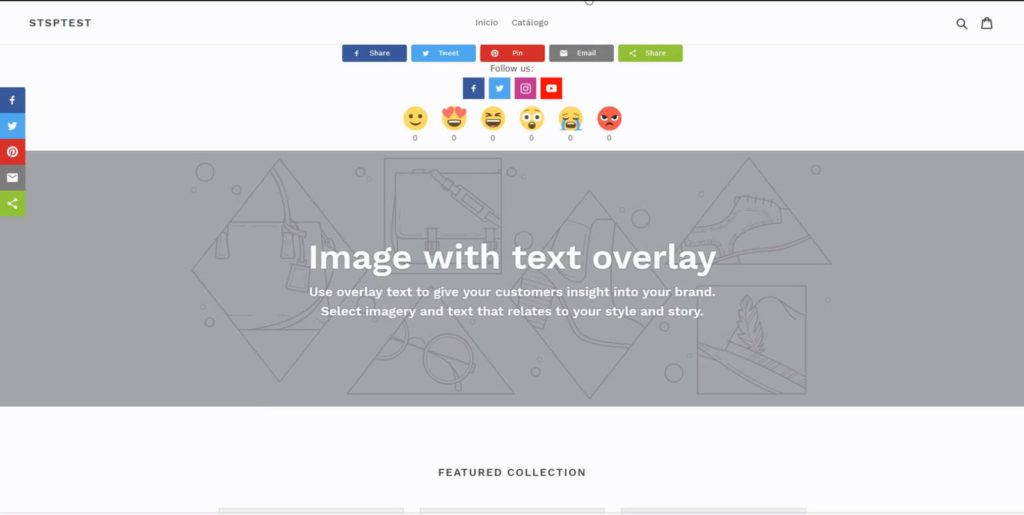Share buttons Shopify