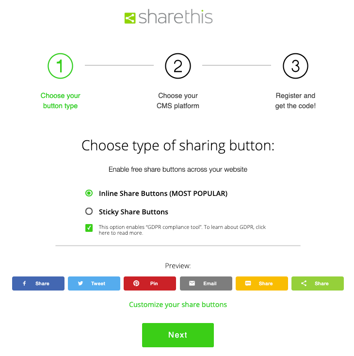 How to Install Share Buttons on a HTML Website - ShareThis