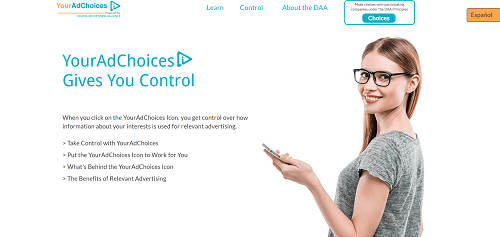 What is AdChoices? YourAdChoices screenshot