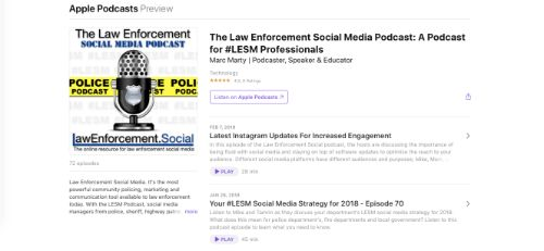 Best Social Media Podcasts: The Law Enforcement Social Media Podcast
