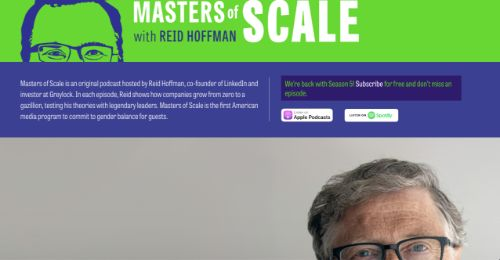 Best Social Media Podcasts: Masters of Scale