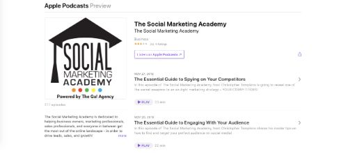 Best Social Media Podcasts: The Social Marketing Academy