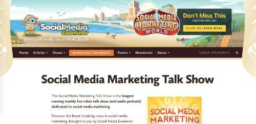 Best Social Media Podcasts: Social Media Marketing Talk Show