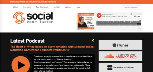 Best Social Media Podcasts: Social Zoom Factor