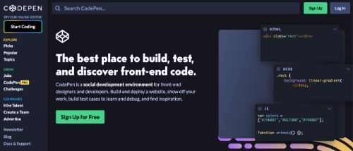 Best Blogging Platforms: CodePen