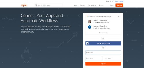 Marketing Productivity Tools: Zapier