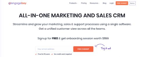 Best Email Marketing Services & Software: EngageBay