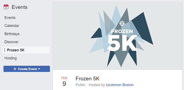 Designing Your Facebook Event Cover Photo: Frozen 5K