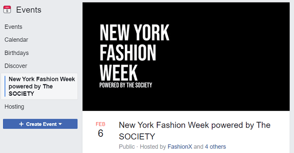 What is the Best Facebook Event Cover Photo Size for 2020? New York Fashion Week