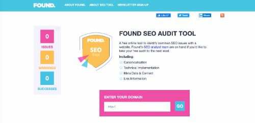 Found SEO Audit Tool