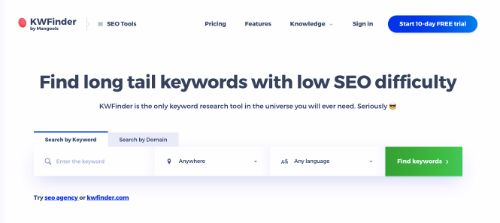Best SEO Tools: KWFinder